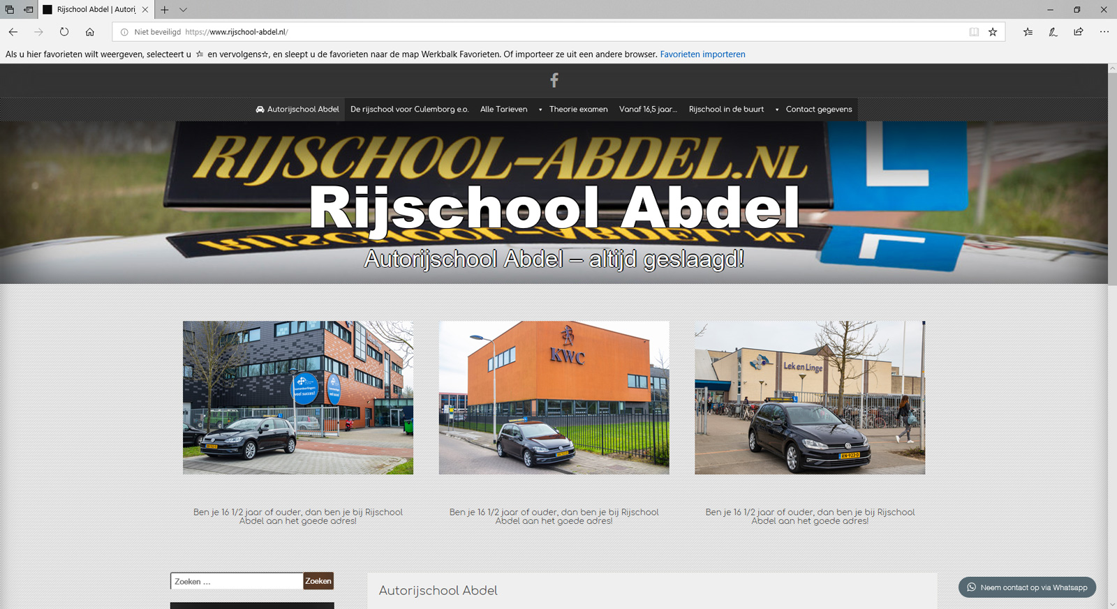 Wil je een voorbeeld zien van een website, bekijk deze website dan eens.