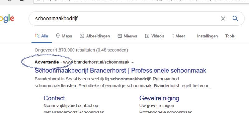 Google adwords reclame campagne